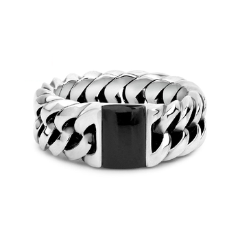Chain Onyx Ring