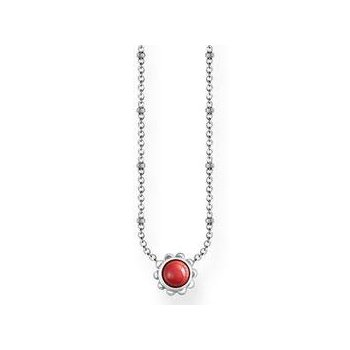 Simulated Coral Necklace