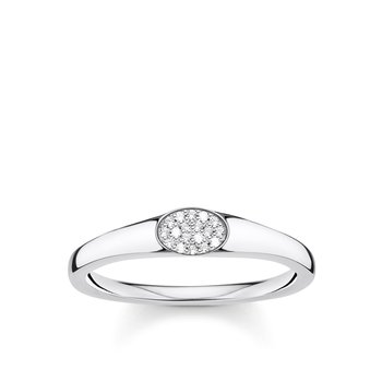 Ring With White Stones