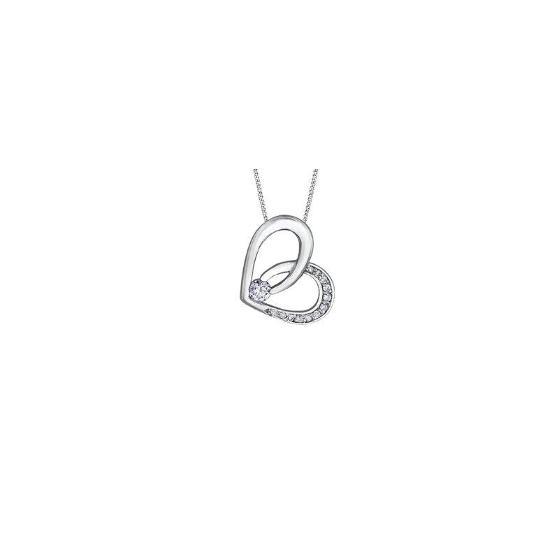 The Collection Diamond Heart Pendant