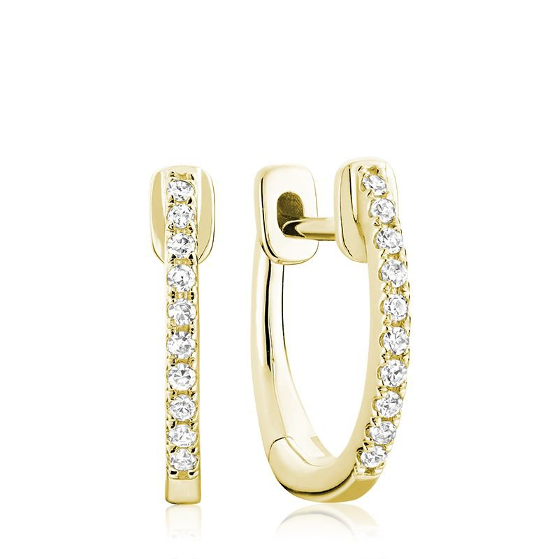 RNB Bijoux Jewellery Diamond Huggie Hoop Earrings