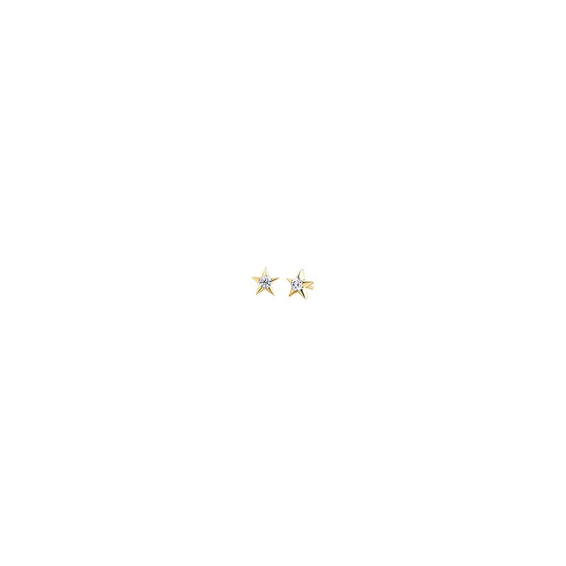 The Collection Maple Leaf Diamond Stud Earrings