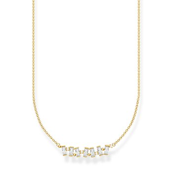Necklace White Stones Gold Plated