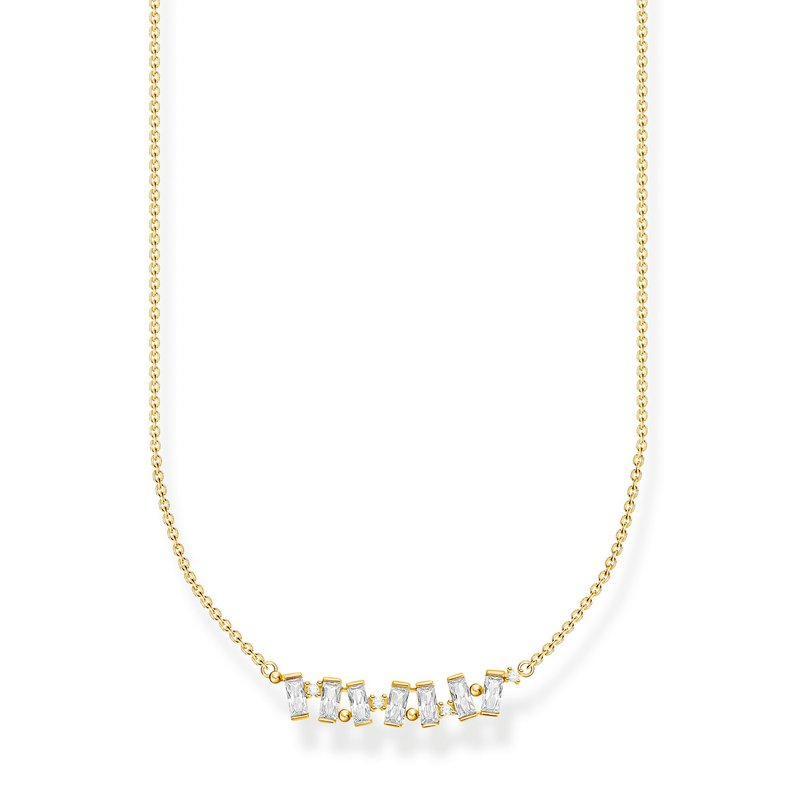 Thomas Sabo Necklace White Stones Gold Plated