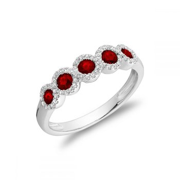 Ruby & Diamond Frame Ring