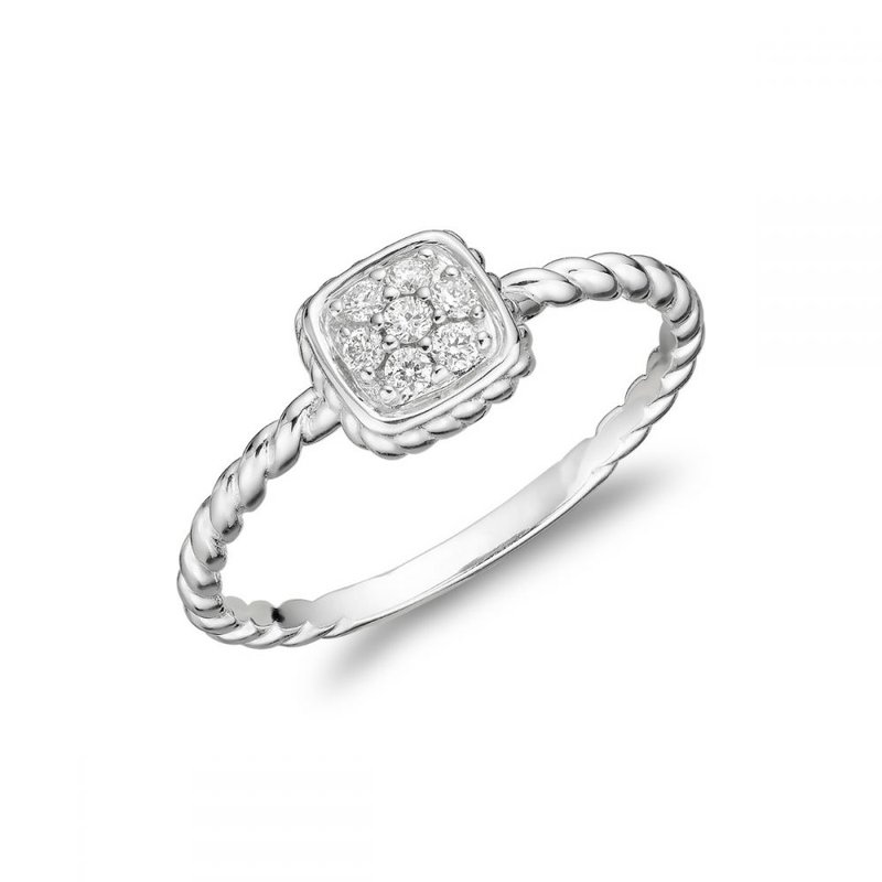 RNB Bijoux Jewellery Round Rope Diamond Ring