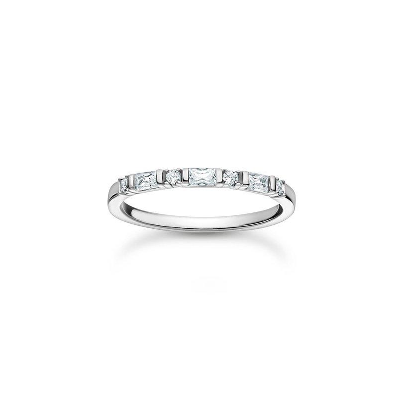 Thomas Sabo Ring White Stones Silver