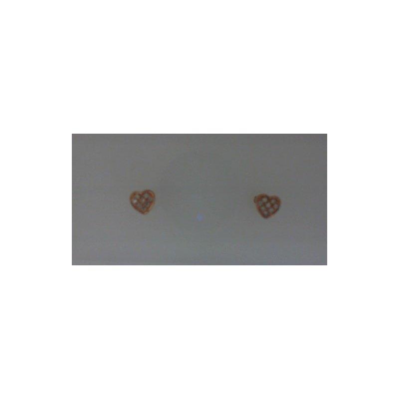RNB Bijoux Jewellery Diamond Heart Earrings