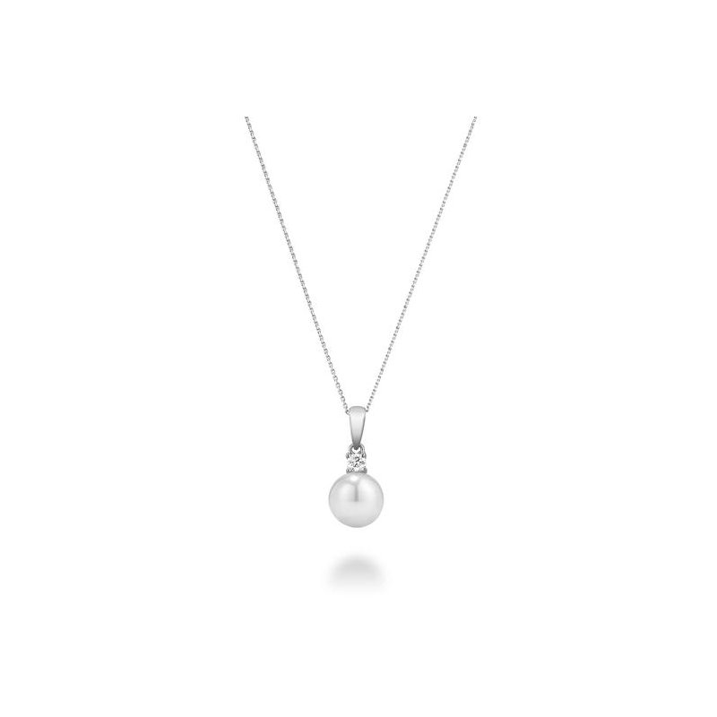 RNB Bijoux Jewellery Cultured Freshwater Pearl & Diamond Pendant