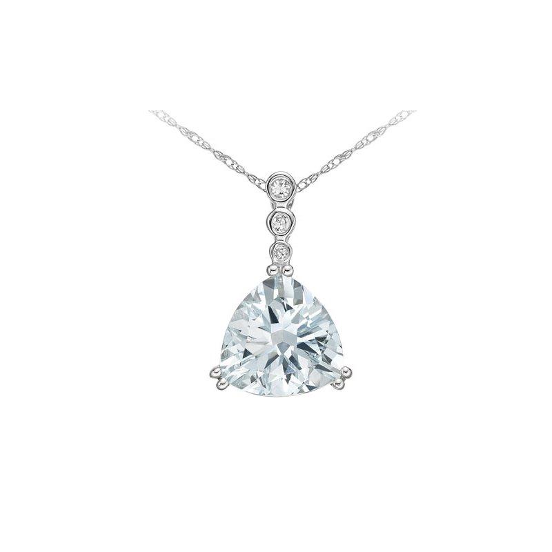 The  Collection Aquamarine And Diamond Pendant