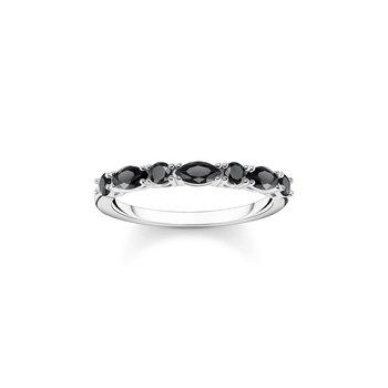 Ring Black Stones Silver