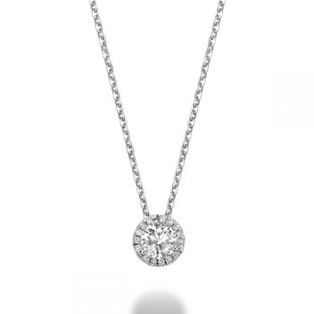 Martini Cup Diamond Halo Pendant