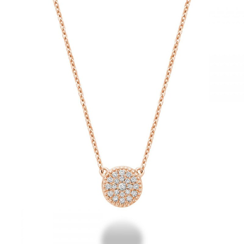 RNB Bijoux Jewellery Round Diamond Necklace