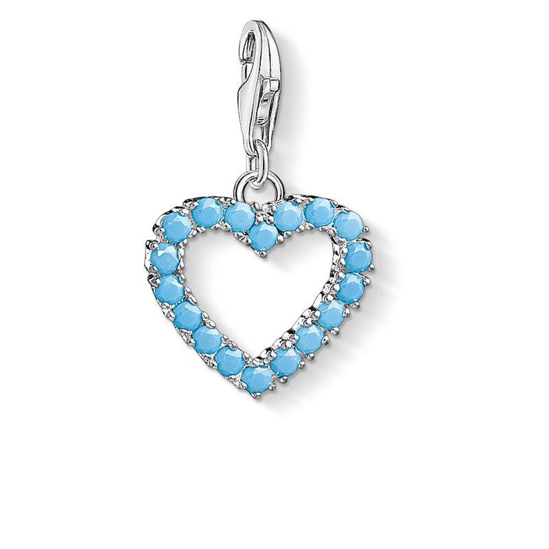Thomas Sabo Charm Pendant Turquoise Heart