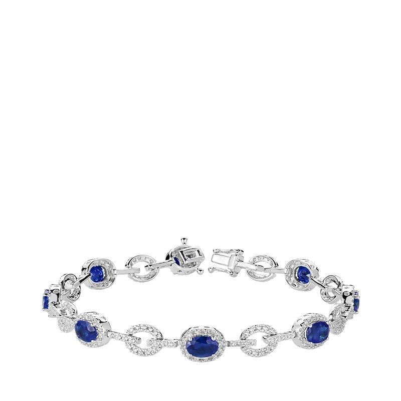 RNB Bijoux Jewellery Blue Sapphire & Diamond Bracelet