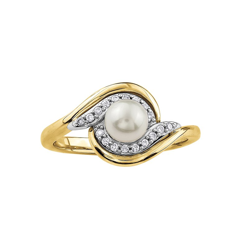 The Collection Pearl and Diamond Ring