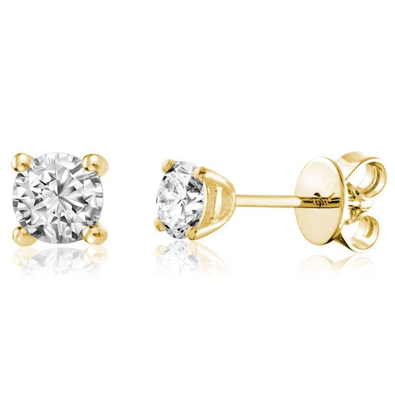 RNB Bijoux Jewellery Solitaire Diamond Stud Earrings