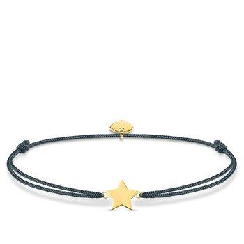 """Sterling Silver Gold Plated Black Textile Bracelet """"Little Secret Star"""""""