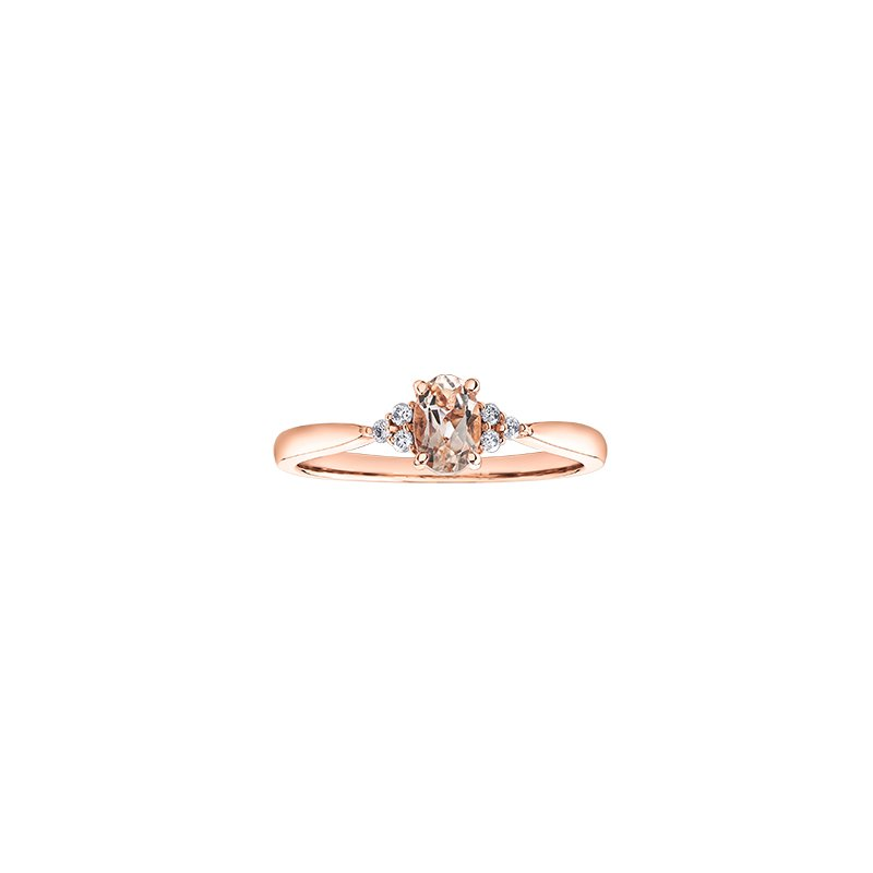 The Collection Morganite And Diamond Ring