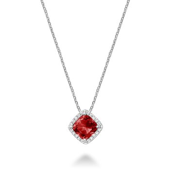 Created Ruby and Diamond Pendant