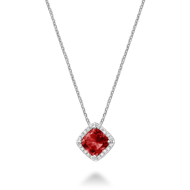 RNB Bijoux Jewellery Created Ruby and Diamond Pendant