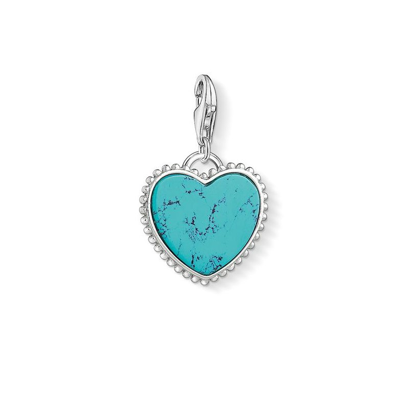 Thomas Sabo Turquoise heart Charm