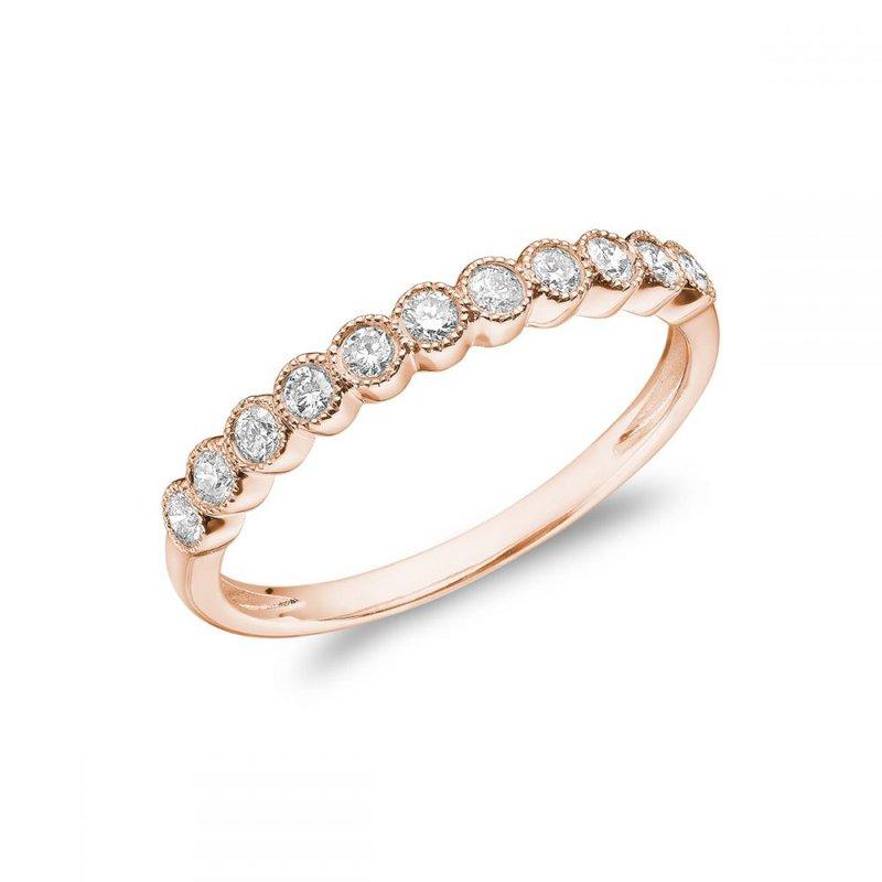 RNB Bijoux Jewellery Semi Eternity Diamond Milgrain Band