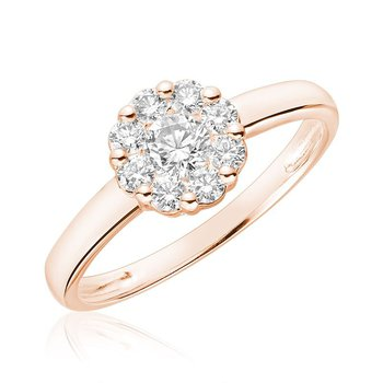 Cluster Mount Diamond Ring