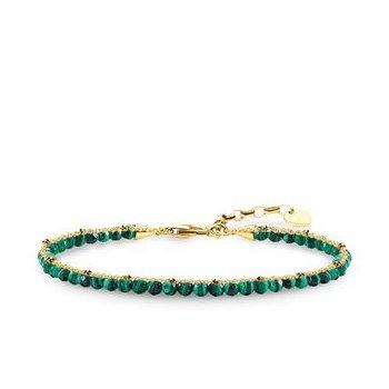 Bracelet With Green Stones