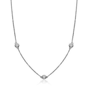 Bezel Diamond by the Yard Necklace