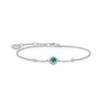 Silver Turquoise Zirconia Bracelet