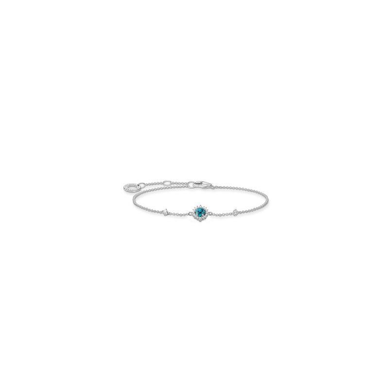 Thomas Sabo Silver Turquoise Zirconia Bracelet