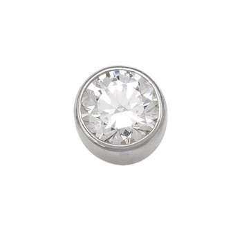 5 mm Bezel Stud Earring