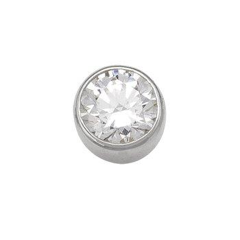 5 mm Bezel Stud Earring