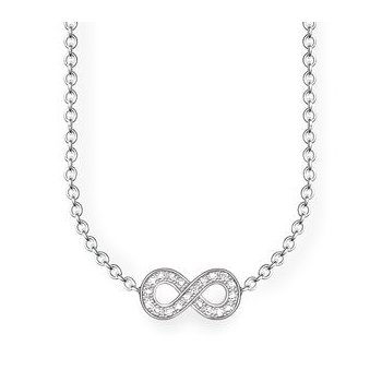 "Sterling Silver Diamond Necklace ""Infinity"""