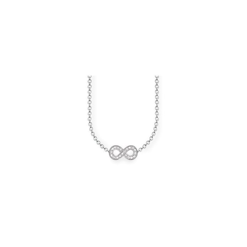 "Thomas Sabo Sterling Silver Diamond Necklace ""Infinity"""