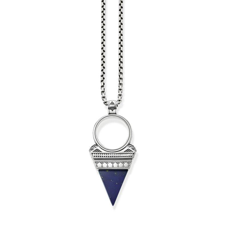 Thomas Sabo Blue Triangle Necklace