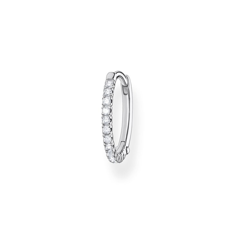 Thomas Sabo Single Hoop Earring White Stones Silver