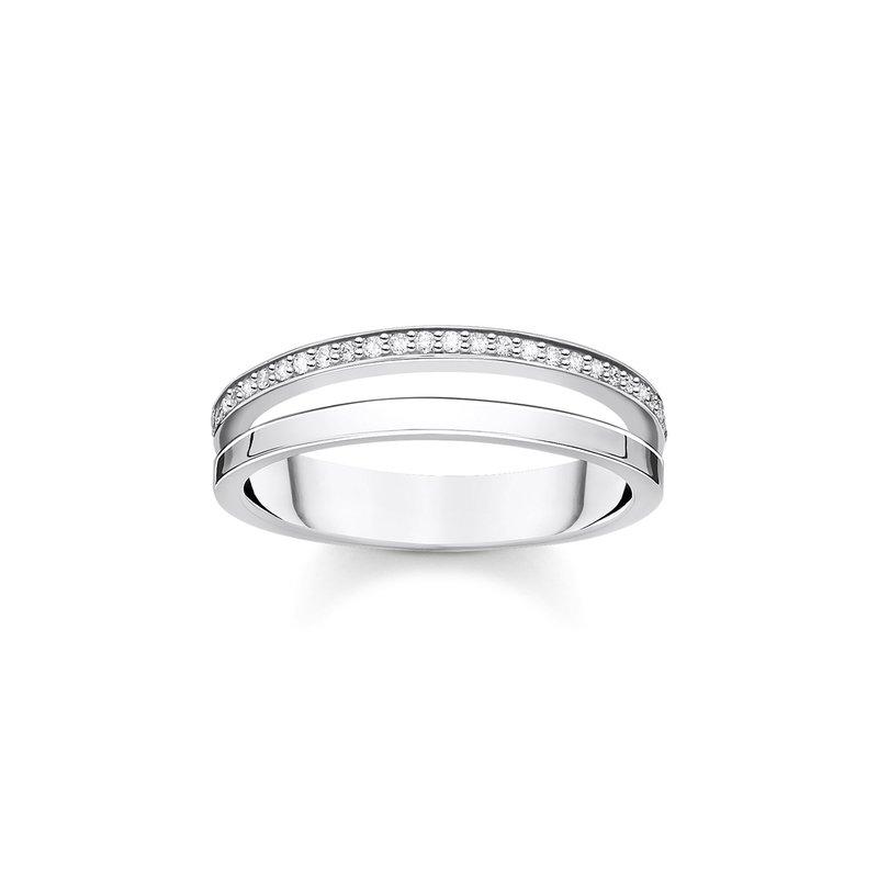 Thomas Sabo Double Row Stone Ring