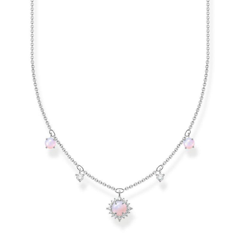 Thomas Sabo Necklace  Vintage Shimmering Pink Opal-Coloured Stone