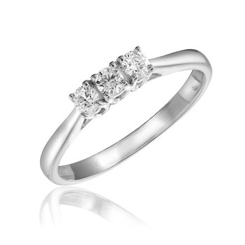 Three Stone Solitaire Diamond Ring