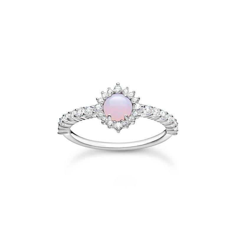 Thomas Sabo Ring Opal- Coloured Stone Shimmering Pink