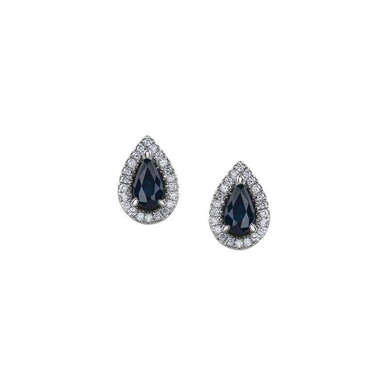 The Collection Sapphire and Diamond Earrings