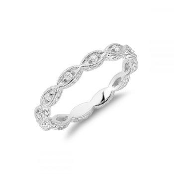 Milgrain Marquise Diamond Stackable Ring