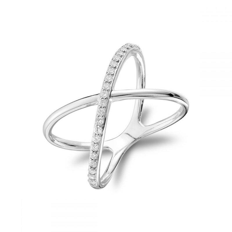 RNB Bijoux Jewellery Diamond Crossover Ring