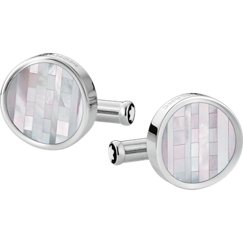 Heritage Stainless Steel And Ornamental Inlay Cuff Links