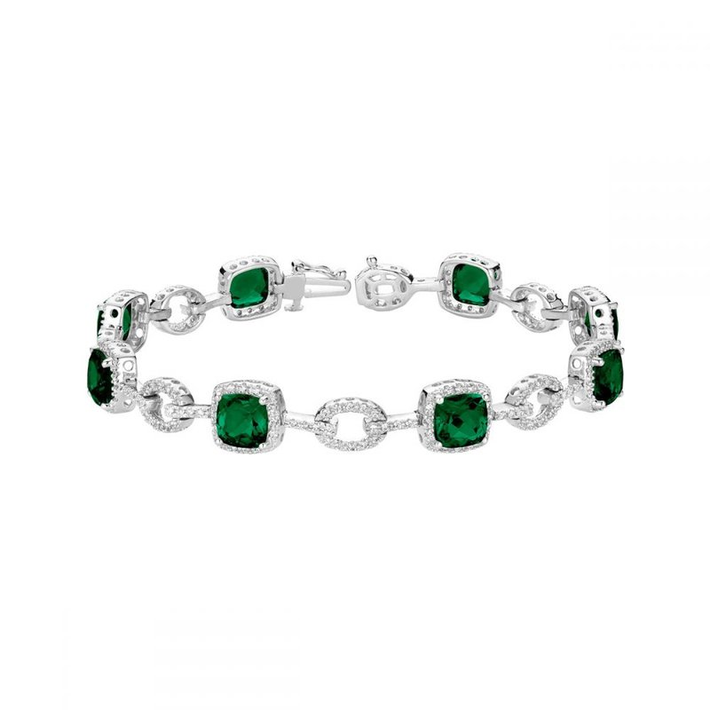 RNB Bijoux Jewellery Created Emerald and Diamond Bracelet