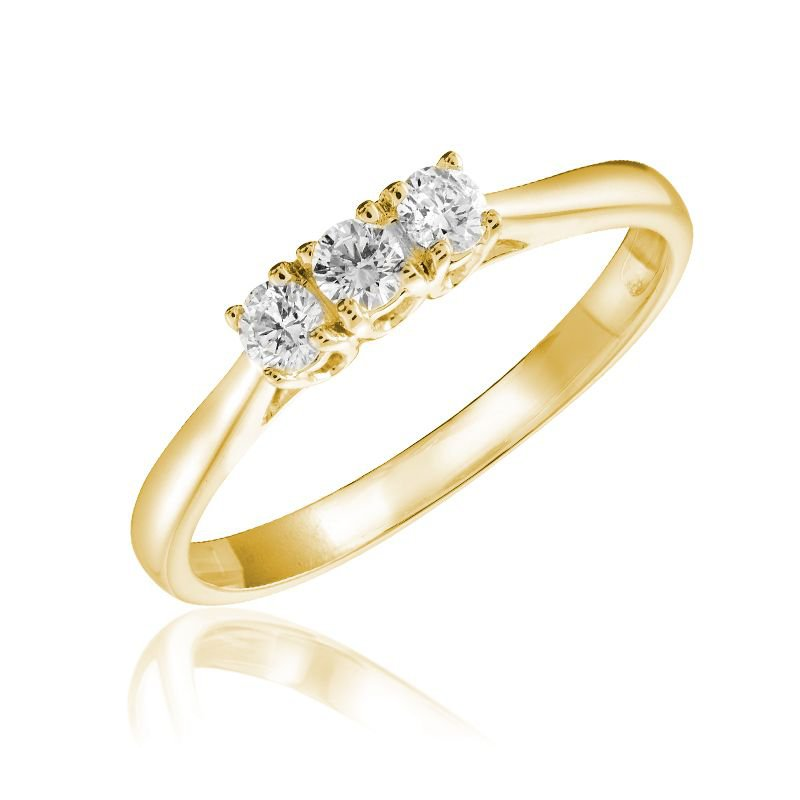 RNB Bijoux Jewellery Three Stone Solitaire Diamond Ring