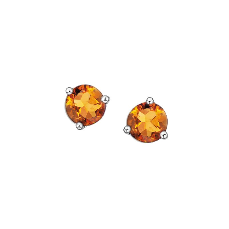 The Collection Citrine Stud Earrings