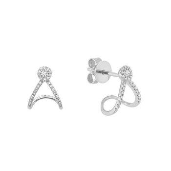 Warp Diamond Stud Earrings